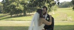 One of the first times the couple kiss after their wedding